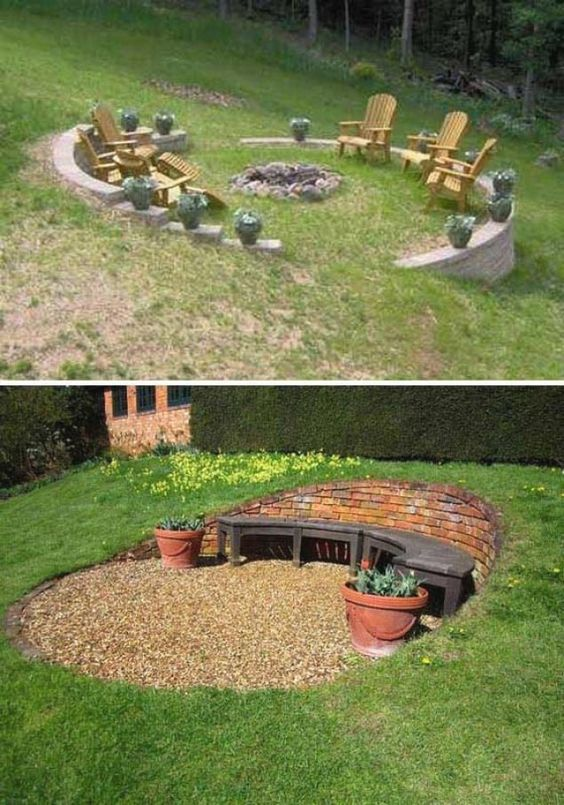 zahrada ve svahu inspirace