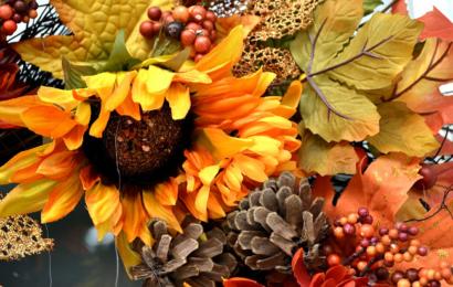 Podzimní věnec na dveře – Jak vyrobit + Inspirace